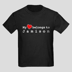 My Heart Belongs To Jamison Kids Dark T-Shirt
