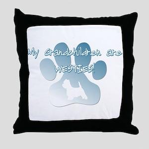 Westie Grandchildren Throw Pillow