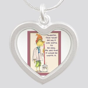 MAIDladyMESSAGEfrom GOD Silver Heart Necklace