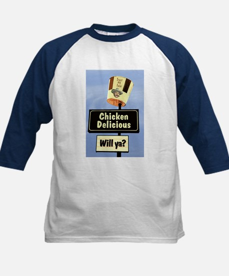 Chicken Delicious Kids Baseball Jersey