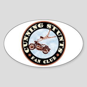 Cunning Stunts Sticker (Oval)