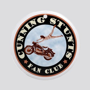 Cunning Stunts Round Ornament