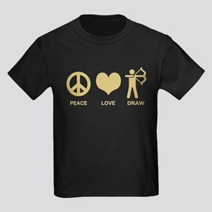 Peace Love Draw Kids Dark T-Shirt