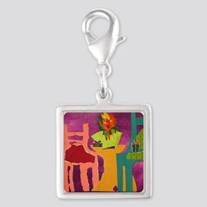 Chairs Silver Square Charm