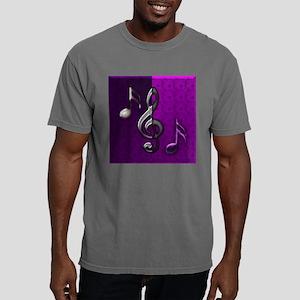 Notes clef de Sol by Blu Mens Comfort Colors Shirt
