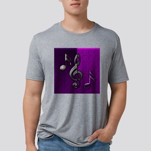 Notes clef de Sol by Bluesa Mens Tri-blend T-Shirt