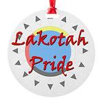 Lakotah Pride Sunburst Round Ornament