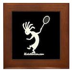Kokopelli Tennis Player Framed Tile