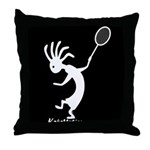 Kokopelli Tennis Player Throw Pillow