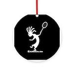 Kokopelli Tennis Player Ornament (Round)