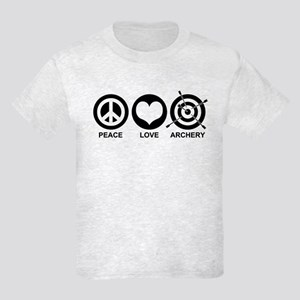 Peace Love Archery Kids Light T-Shirt