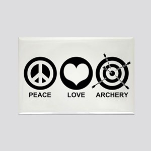 Peace Love Archery Rectangle Magnet