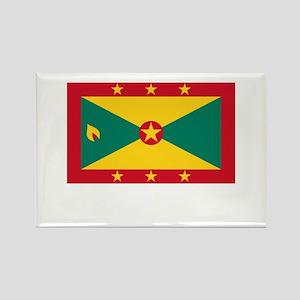 Grenada Flag Picture Rectangle Magnet