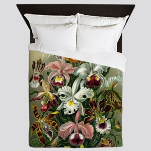 1904 Orchids Art Forms of Nature Print Queen Duvet