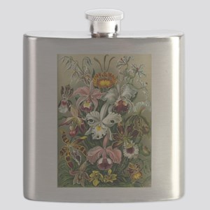 1904 Orchids Art Forms of Nature Print Flask