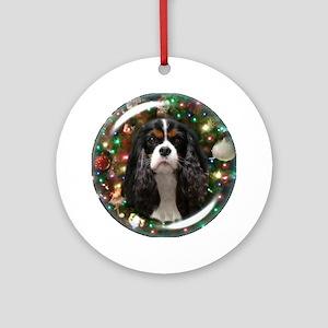 Tricolor Cavalier Ornament Round
