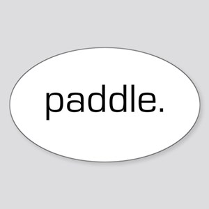 Paddle Oval Sticker