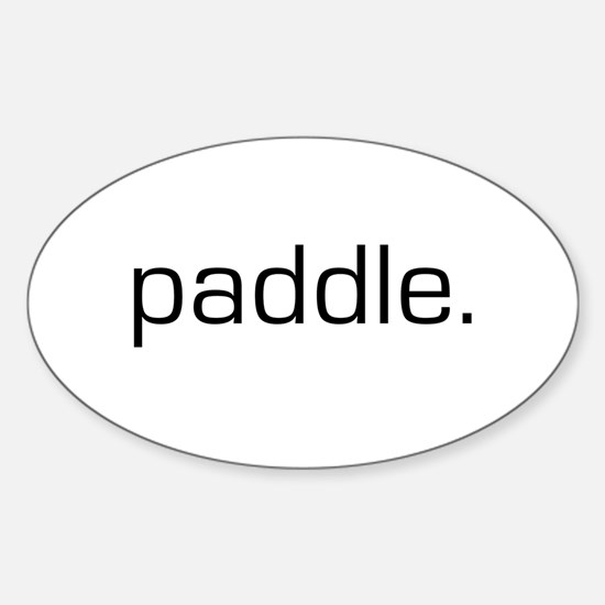 Paddle Oval Decal