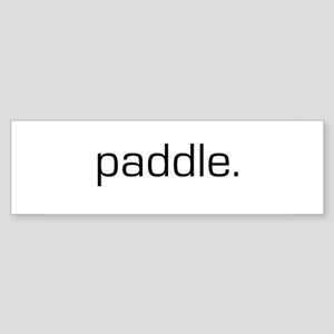 Paddle Bumper Sticker