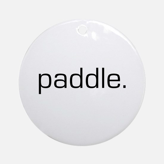 Paddle Ornament (Round)