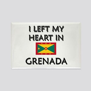 I Left My Heart In Grenada Rectangle Magnet