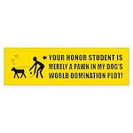 DOG World Domination Plot Bumper Sticker