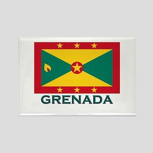 Grenada Flag Gear Rectangle Magnet