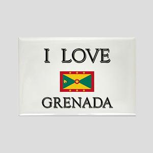 I Love Grenada Rectangle Magnet