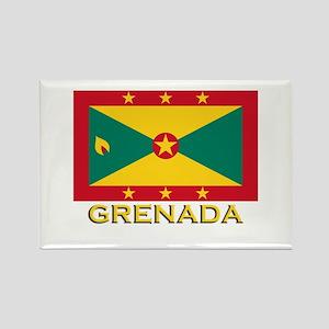 Grenada Flag Merchandise Rectangle Magnet