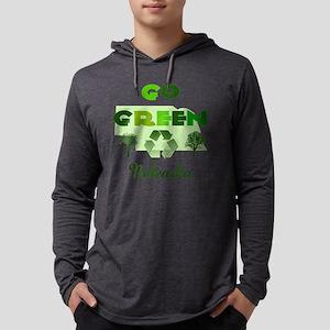 Go Green Nebraska Mens Hooded Shirt