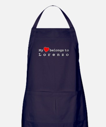 My Heart Belongs To Lorenzo Apron (dark)