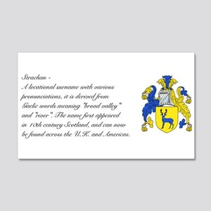 Strachan Coat of Arms w/ Surname 20x12 Wall Decal