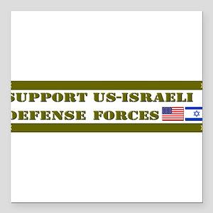 Support Israeli Defense Forces IDF Square Car Magn