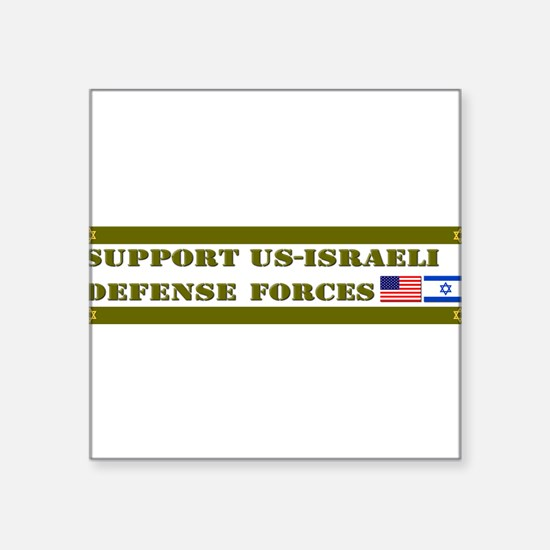 Support Israeli Defense Forces IDF Square Sticker