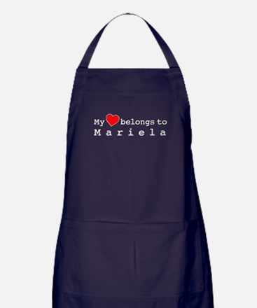 My Heart Belongs To Mariela Apron (dark)