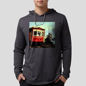 RED STREETCAR Mens Hooded Shirt