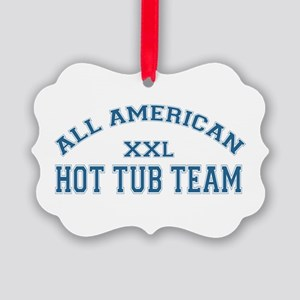 AA Hot Tub Team Picture Ornament