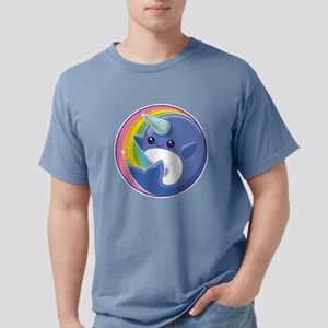 Kawaii Narwhal Mens Comfort Colors Shirt