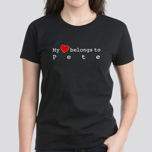 My Heart Belongs To Pete Women's Dark T-Shirt
