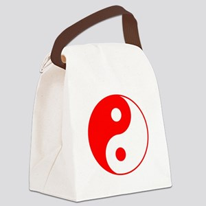 Red Yin Yang Canvas Lunch Bag