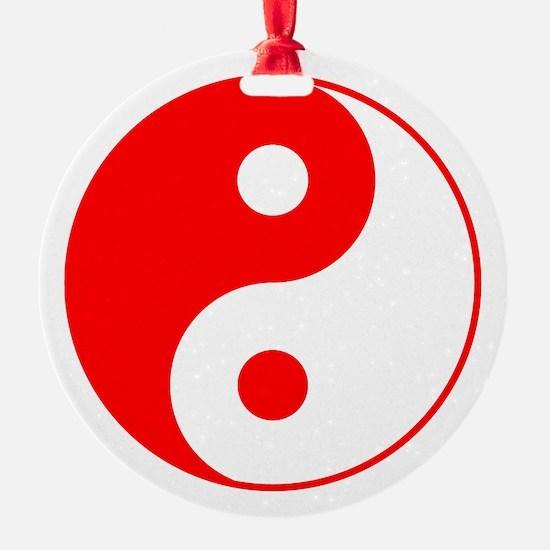Red Yin Yang Ornament