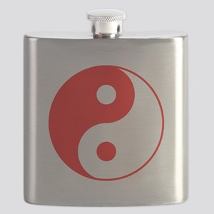 Red Yin Yang Flask