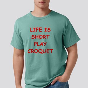 i love croquet Mens Comfort Colors Shirt