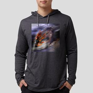 FlameGuitarSkyGirlSquare Mens Hooded Shirt