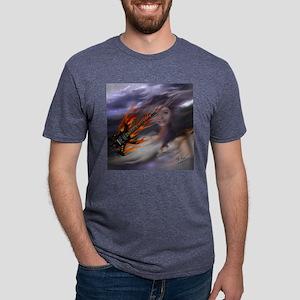 FlameGuitarSkyGirlSquare.jp Mens Tri-blend T-Shirt