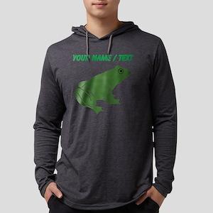 Custom Green Toad Mens Hooded Shirt