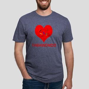 LOVE TAEKWONDO Mens Tri-blend T-Shirt