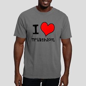 I LOVE Triathlon Mens Comfort Colors Shirt
