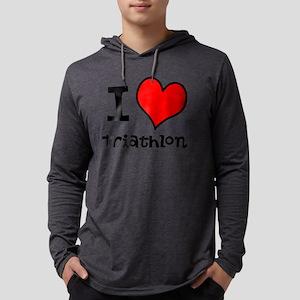 I LOVE Triathlon Mens Hooded Shirt