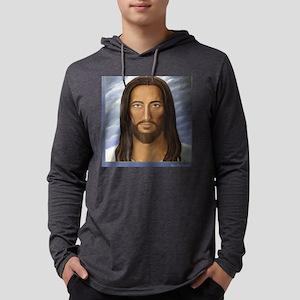 Jesus_sq_2 Mens Hooded Shirt
